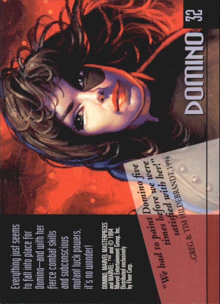 1994 Marvel Masterpieces #32 Domino back image