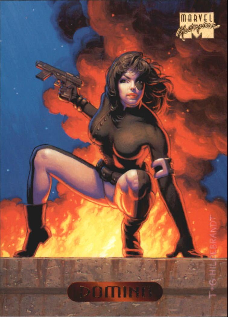 1994 Marvel Masterpieces #32 Domino