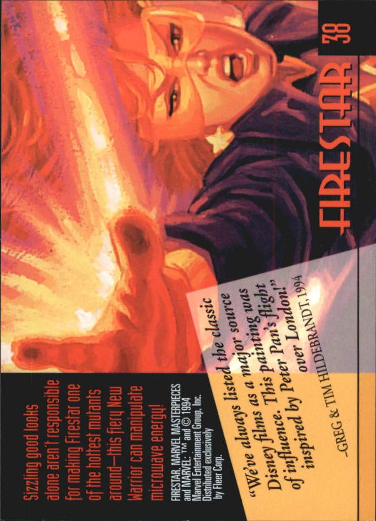 1994 Marvel Masterpieces #38 Firestar back image