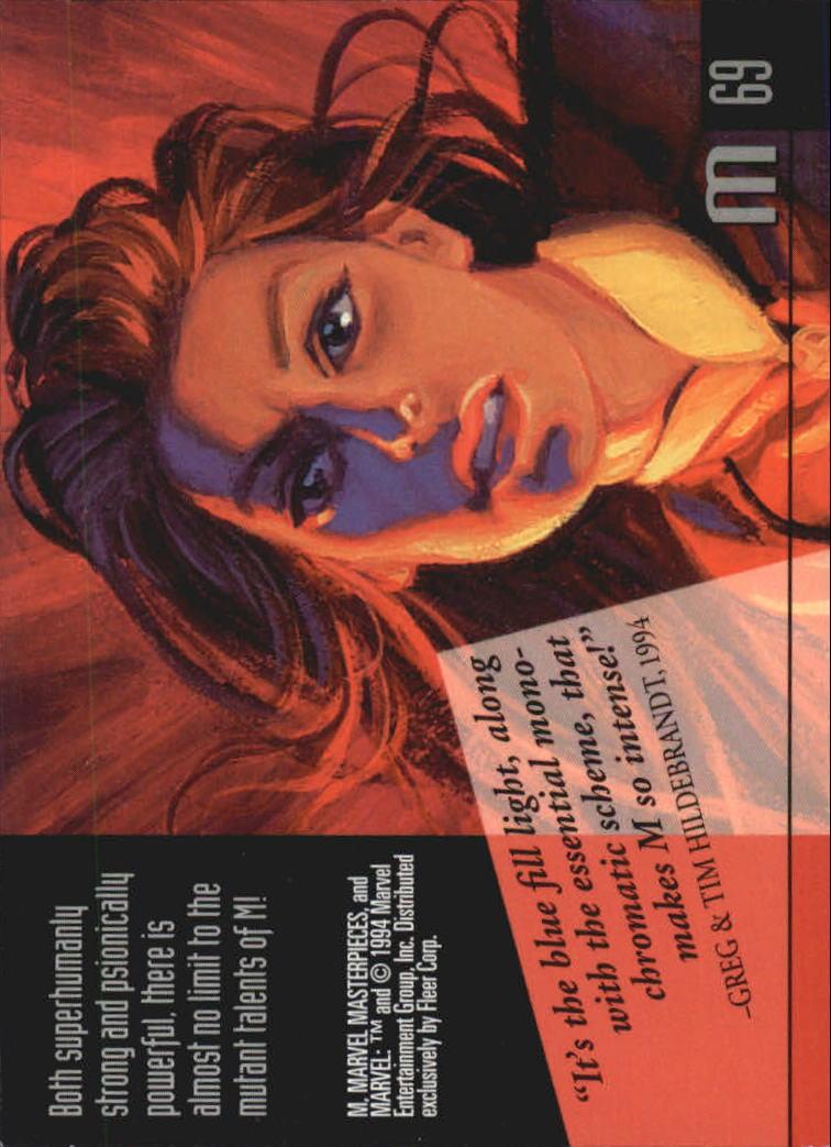 1994 Marvel Masterpieces #69 M back image