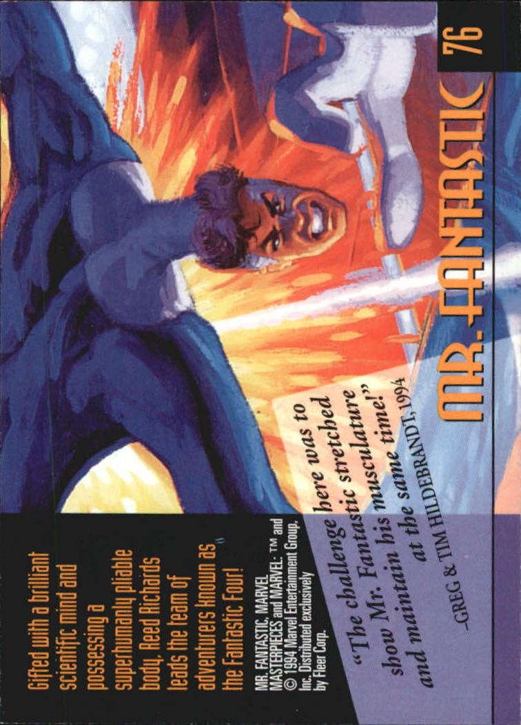 1994 Marvel Masterpieces #76 Mr. Fantastic back image