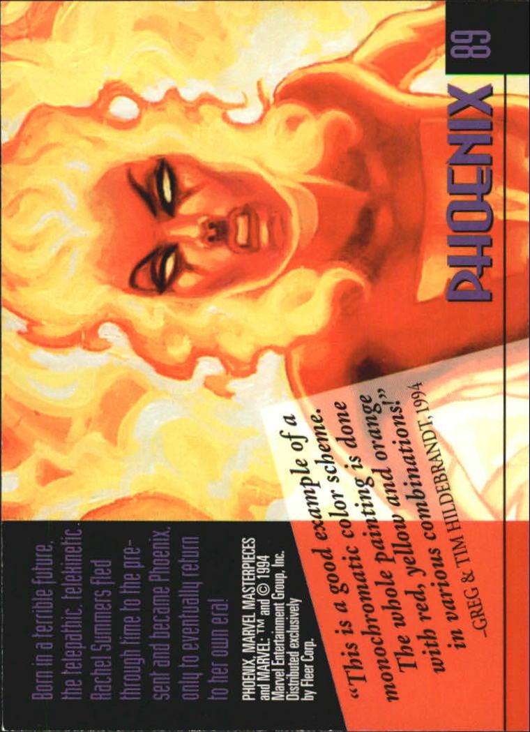 1994 Marvel Masterpieces #89 Phoenix back image