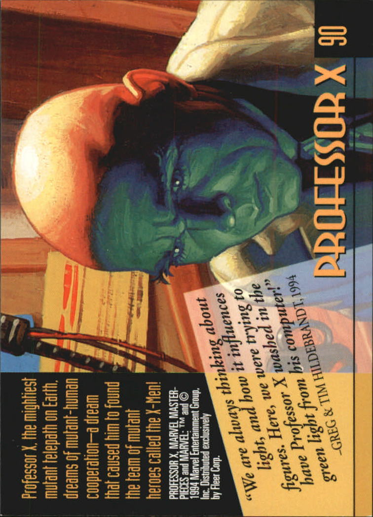1994 Marvel Masterpieces #90 Professor X back image