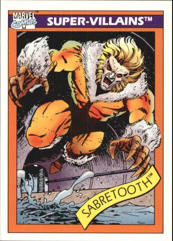 1990 Marvel Universe I #57 Sabretooth
