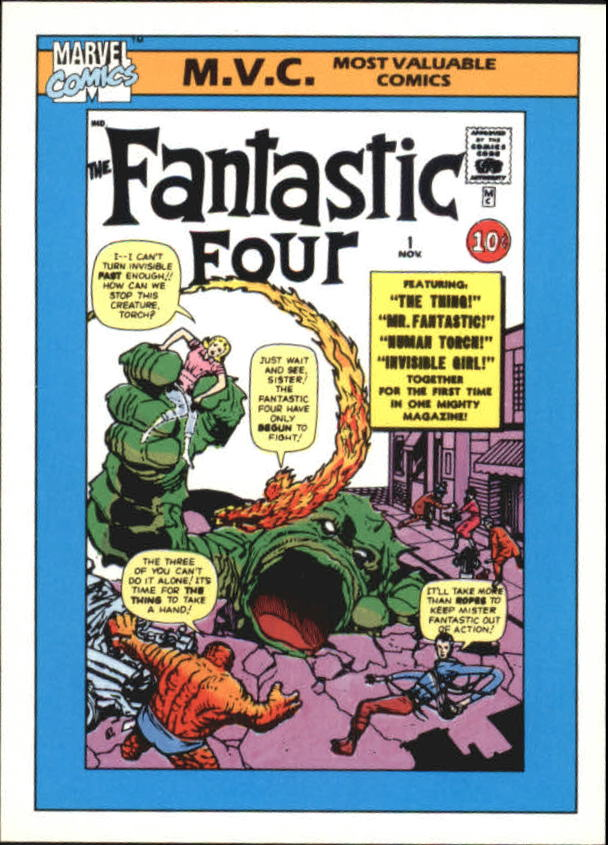 1990 Marvel Universe I #124 Fantastic Four #1