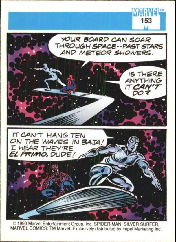 1990 Marvel Universe I #153 Silver Surfer back image