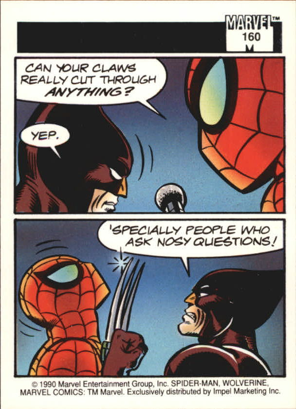 1990 Marvel Universe I #160 Wolverine back image