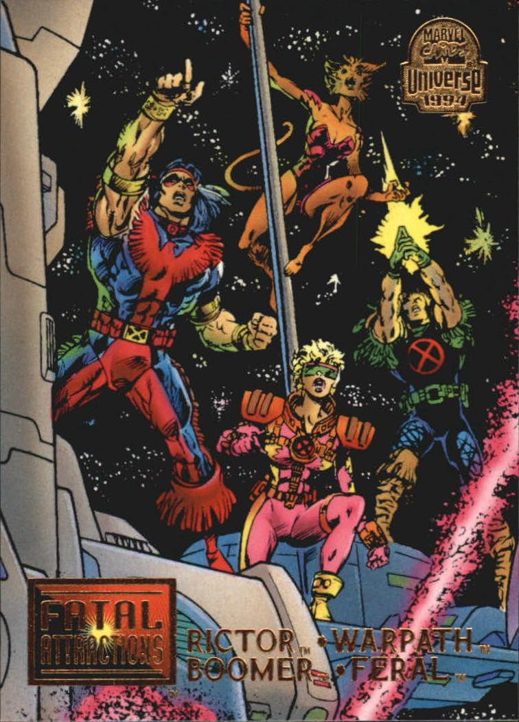 1994 Marvel Universe V #13 Rictor/Warpath/Boomer/Feral