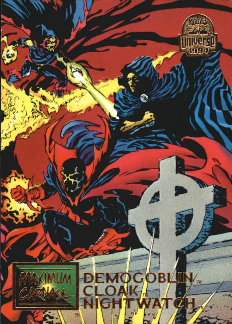 1994 Marvel Universe V #21 Demogoblin/Cloak/Nightwatch