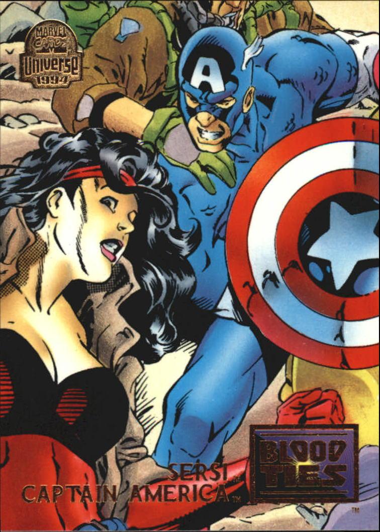 1994 Marvel Universe V #34 Sersi and Captain America