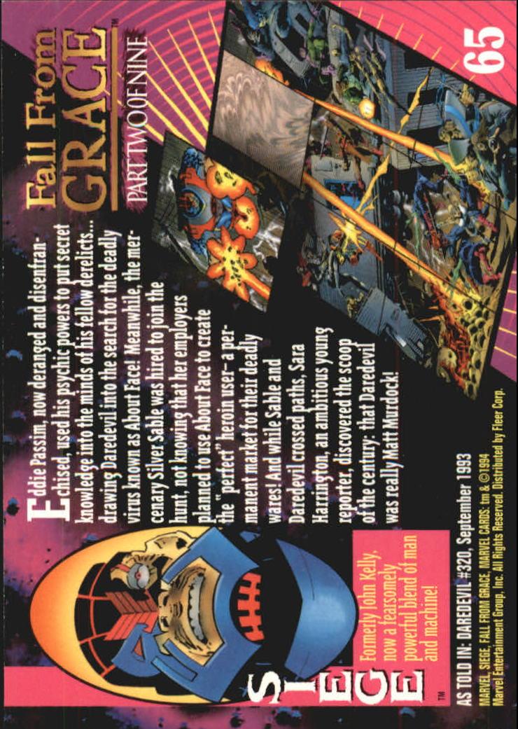 1994 Marvel Universe V #65 Siege back image