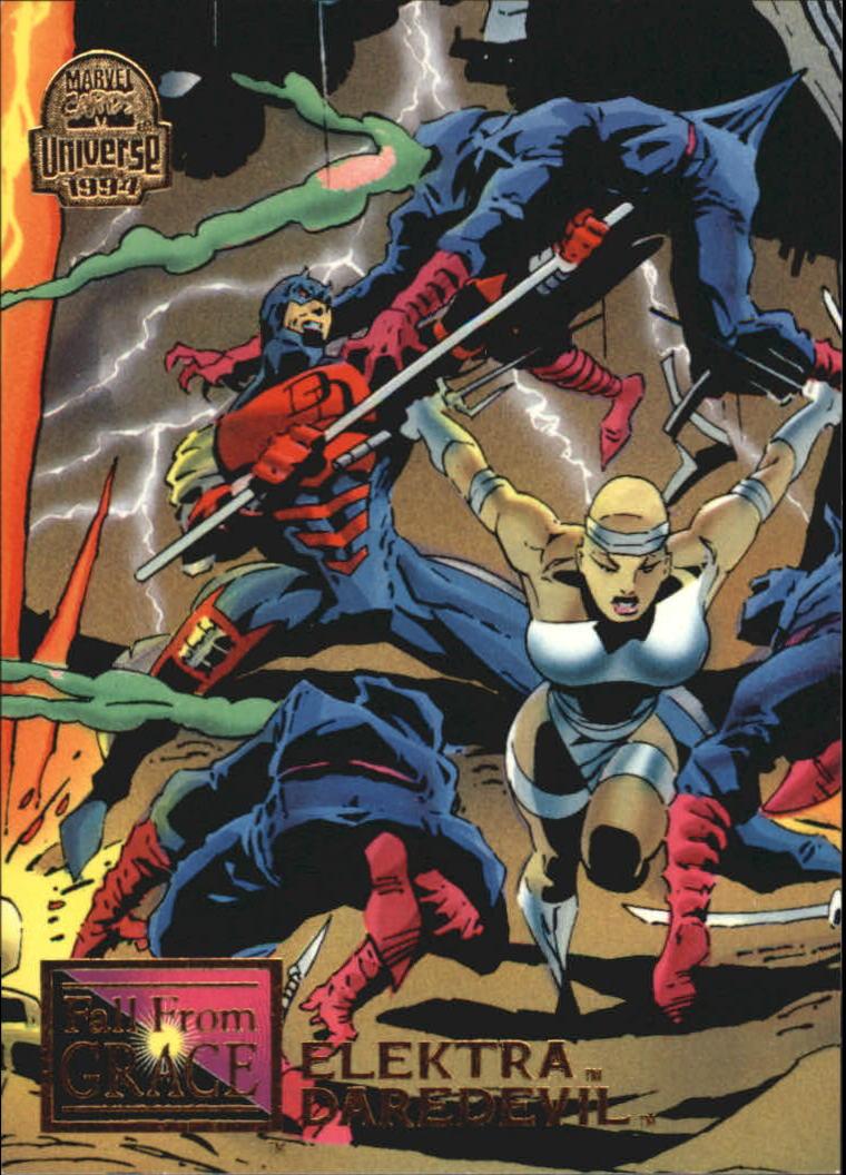 1994 Marvel Universe V #71 Elektra and Daredevil