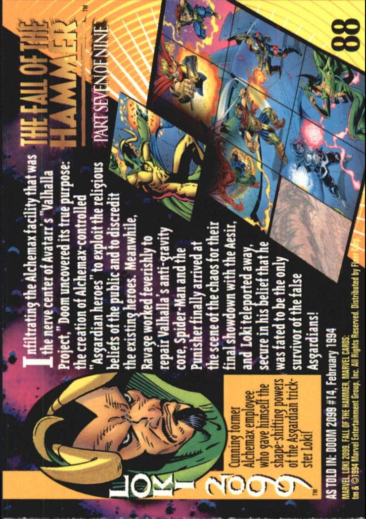 1994 Marvel Universe V #88 Loki 2099 back image