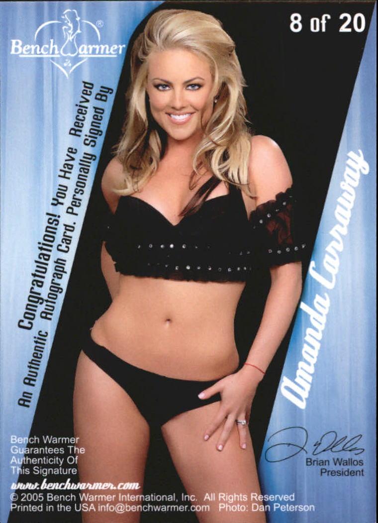 2005 Bench Warmer Autographs #8 Amanda Carraway back image
