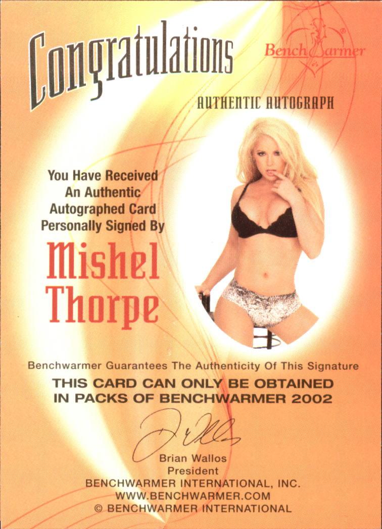 2002 Bench Warmer Autographs #36 Mishel Thorpe 1 back image