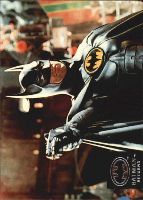 1992 Batman Returns Stadium Club #63 A portrait of two celebrated fantasy