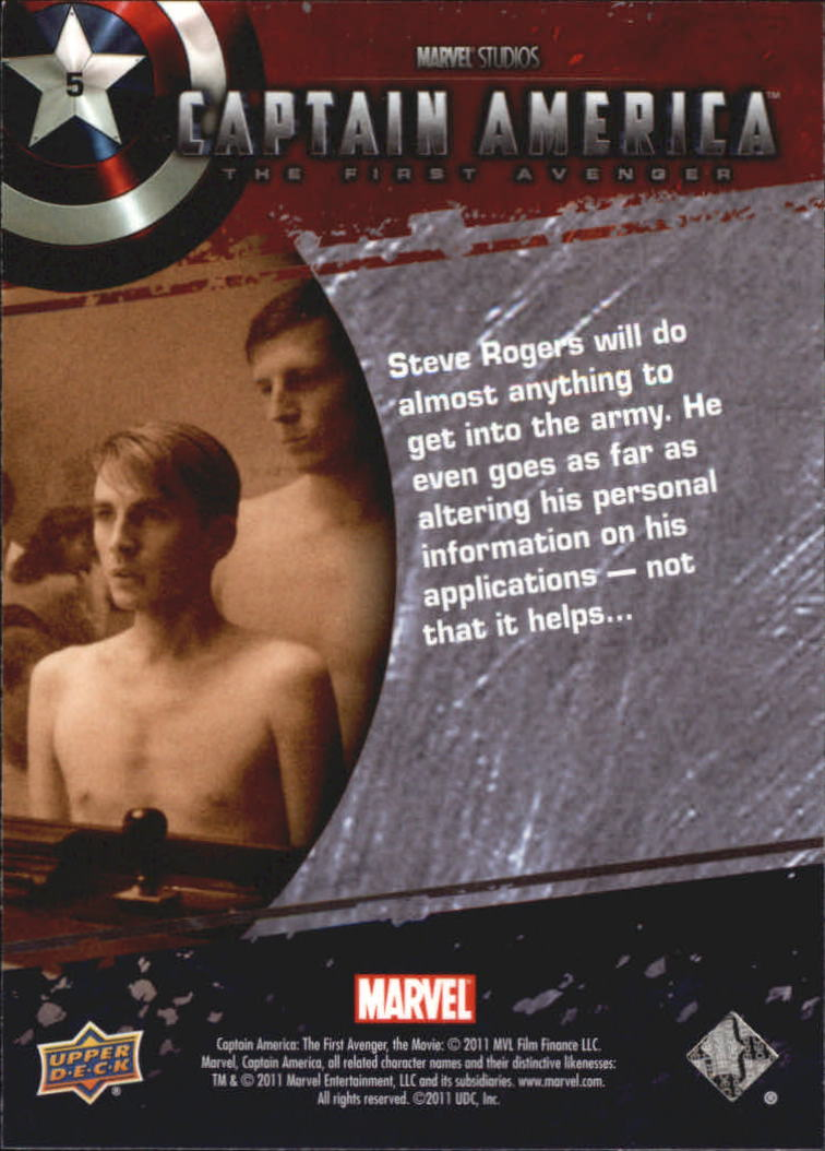 2011 Captain America The First Avenger #5 Steve Rogers will do almost anything to get in back image