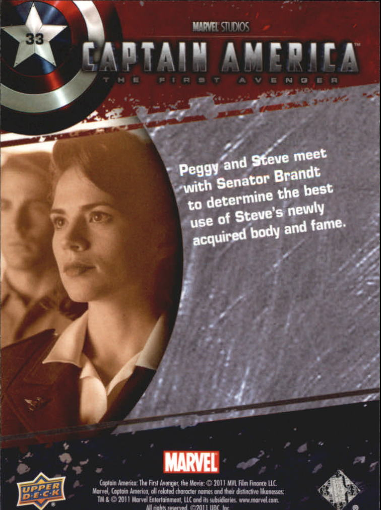 2011 Captain America The First Avenger #33 Peggy and Steve meet with Senator Brandt to de back image