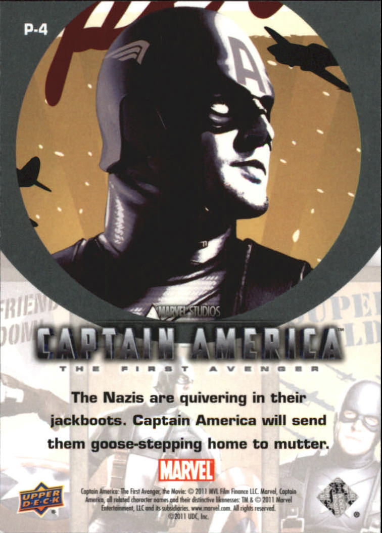 2011 Captain America The First Avenger Posters #P4 Super Soldier back image