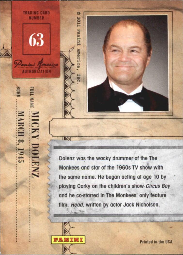 2011 Americana #63 Micky Dolenz back image
