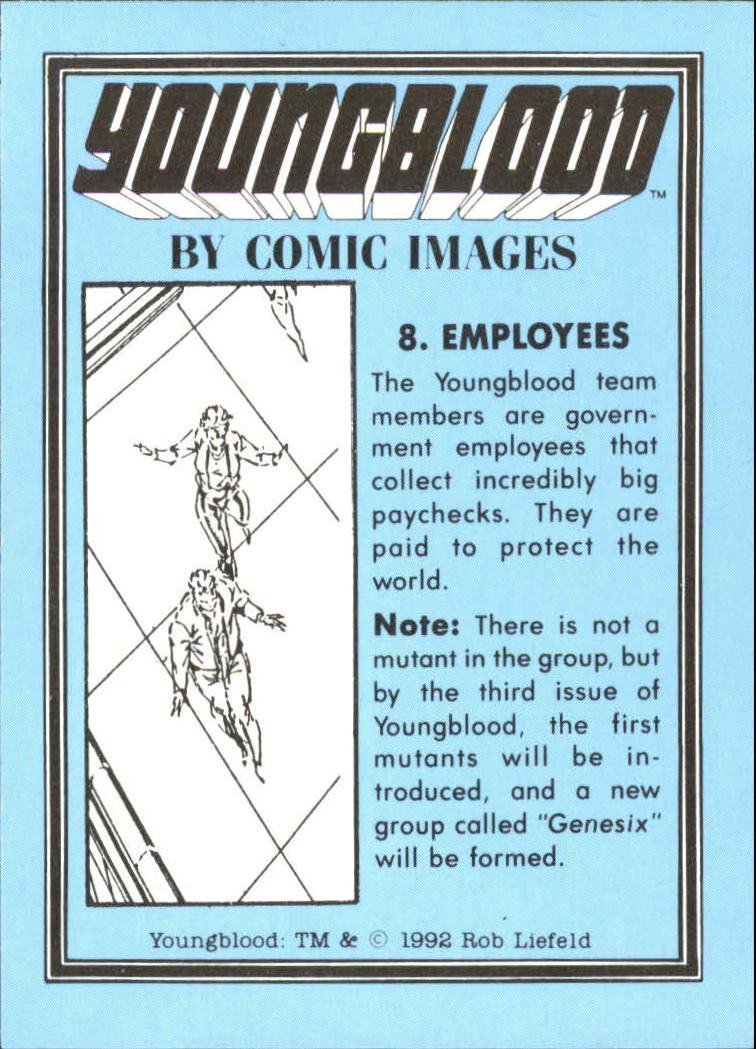1992 Youngblood #8 Employees back image