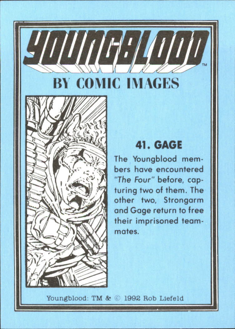 1992 Youngblood #41 Gage back image