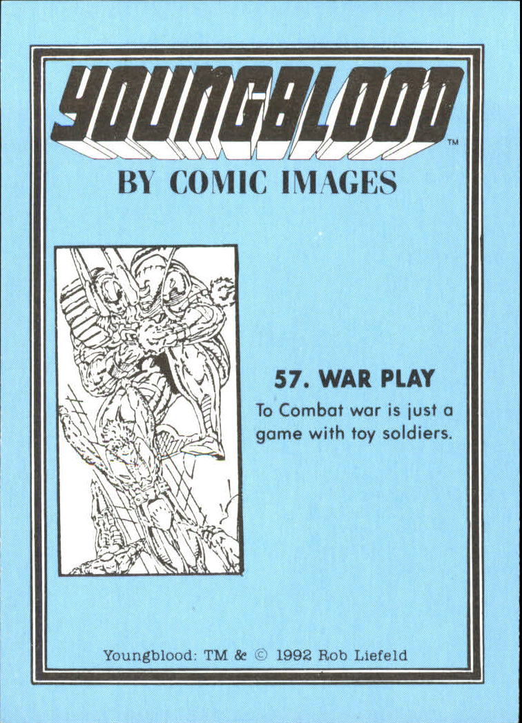 1992 Youngblood #57 War Play back image