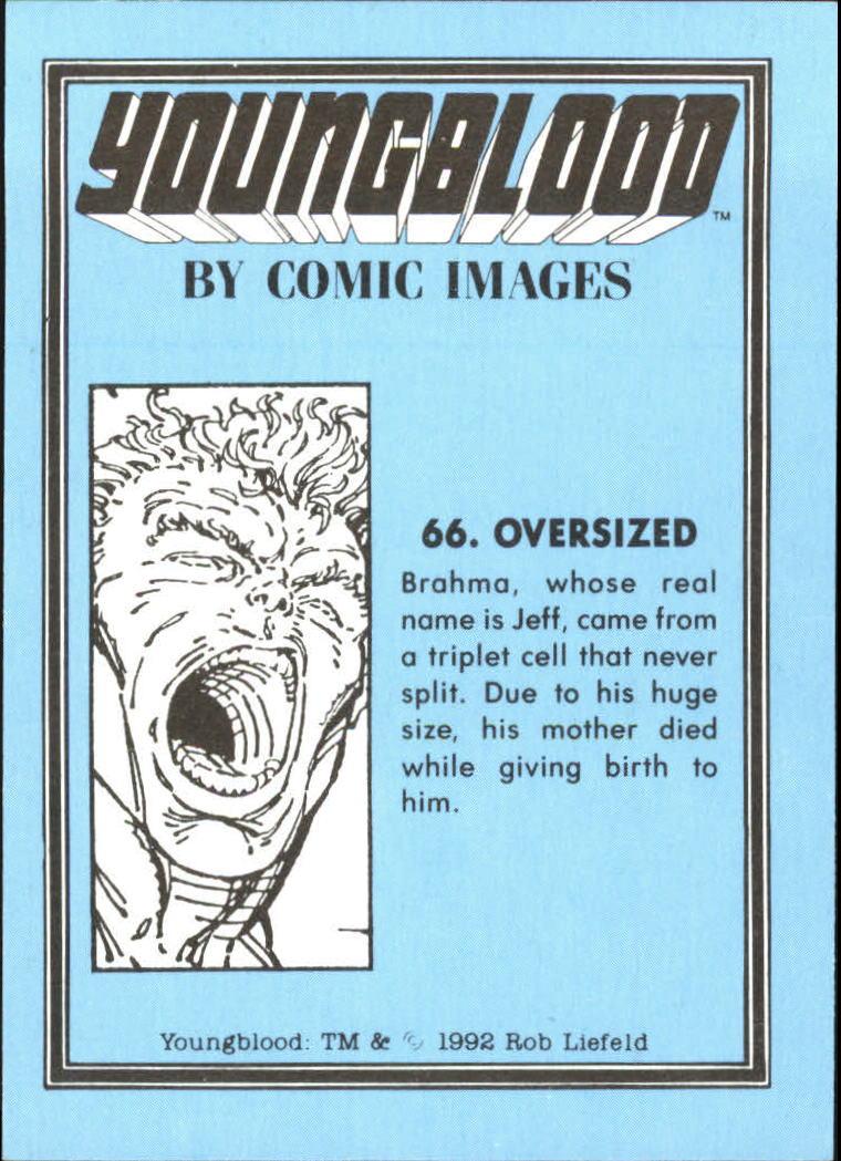 1992 Youngblood #66 Oversized back image