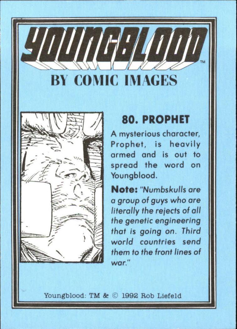 1992 Youngblood #80 Prophet back image