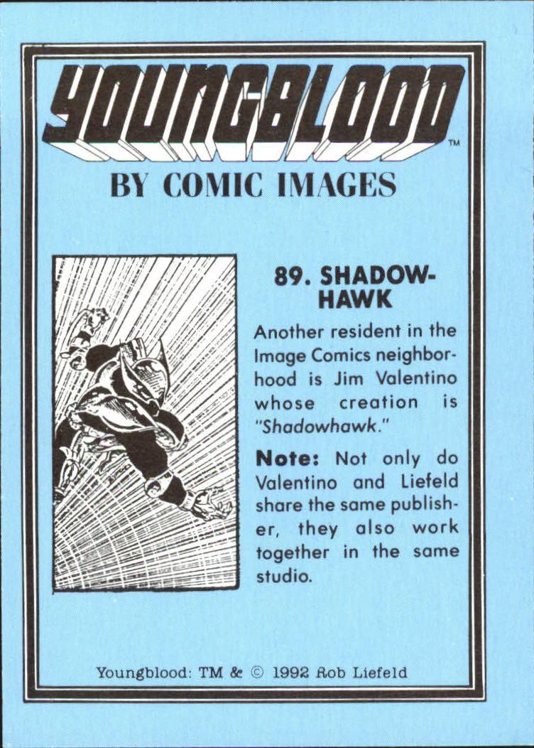 1992 Youngblood #89 Shadowhawk back image