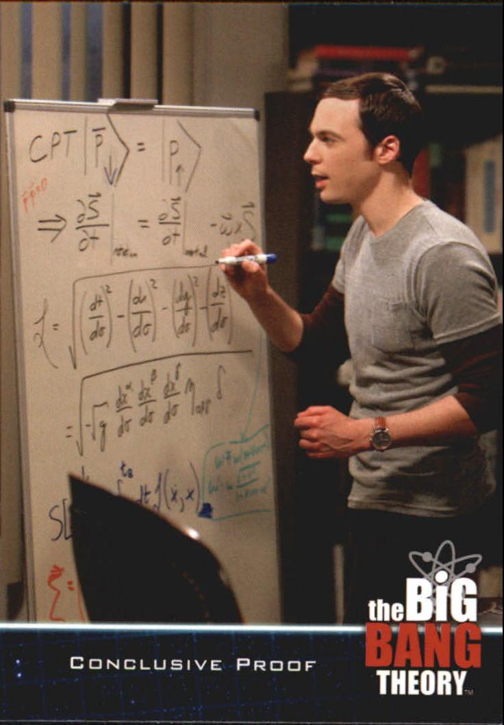 2013 The Big Bang Theory Season Five #22 Conclusive Proof