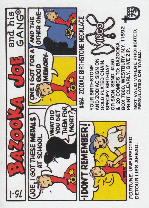 2013 Topps 75th Anniversary #60 Bazooka Joe /> Gum /> Comic /> 1975