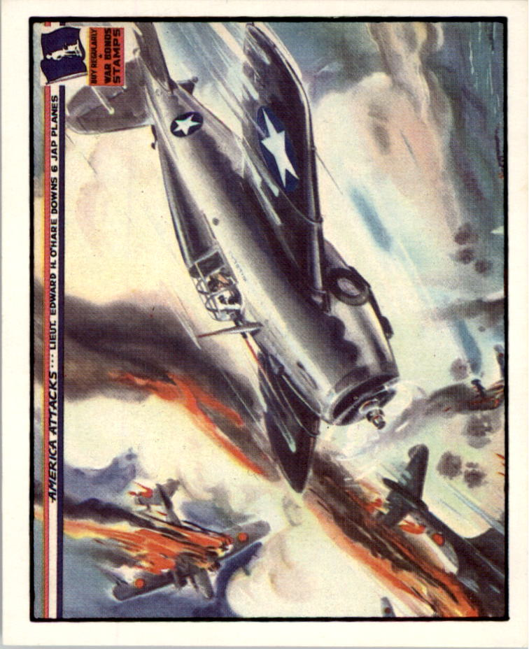 1983 America Attacks #16 Lieut. Edward H. O'Hare Downs 6 Jap Planes