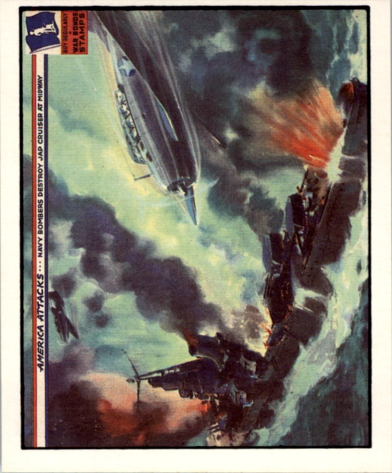 1983 America Attacks #17 Navy Bombers Destroy Jap Cruiser