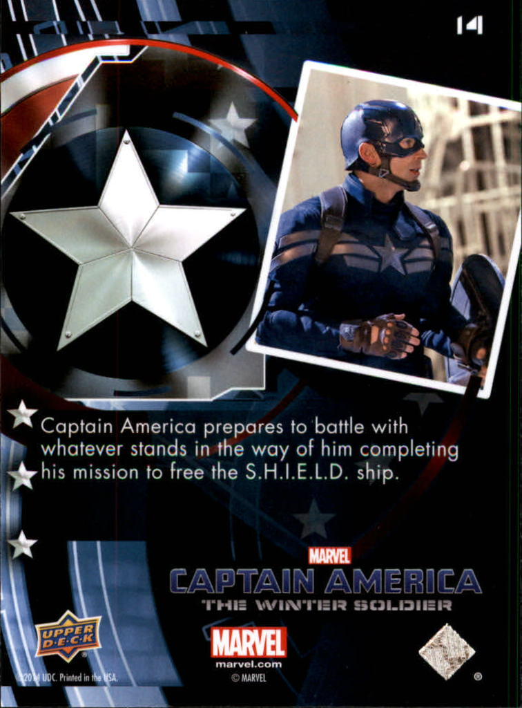 2014 Captain America The Winter Soldier #14 Captain America prepares to battle with whatever s back image