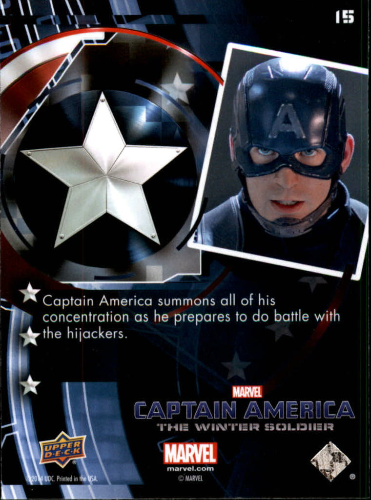 2014 Captain America The Winter Soldier #15 Captain America summons all of his concentration a back image