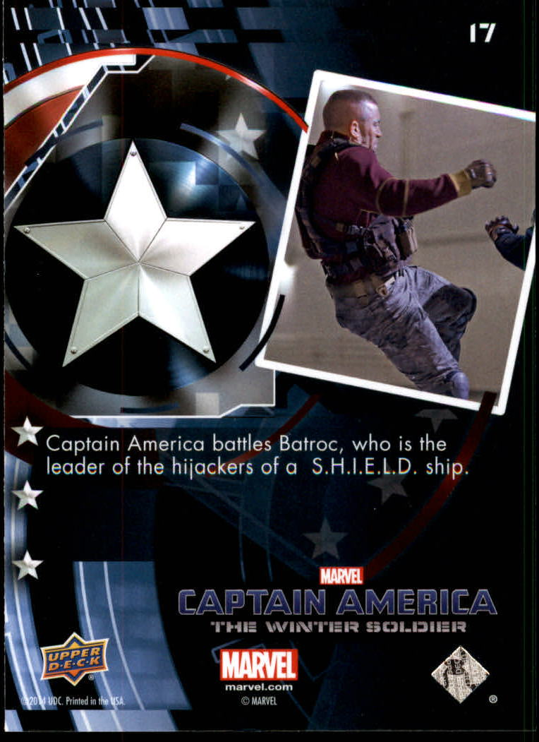 2014 Captain America The Winter Soldier #17 Captain America battles Batroc, who is the leader back image
