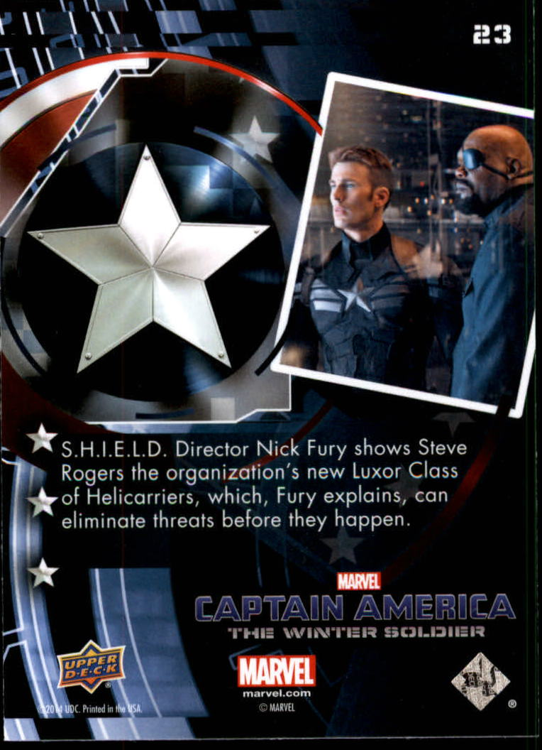 2014 Captain America The Winter Soldier #23 S.H.I.E.L.D. Director Nick Fury shows Steve Rogers back image