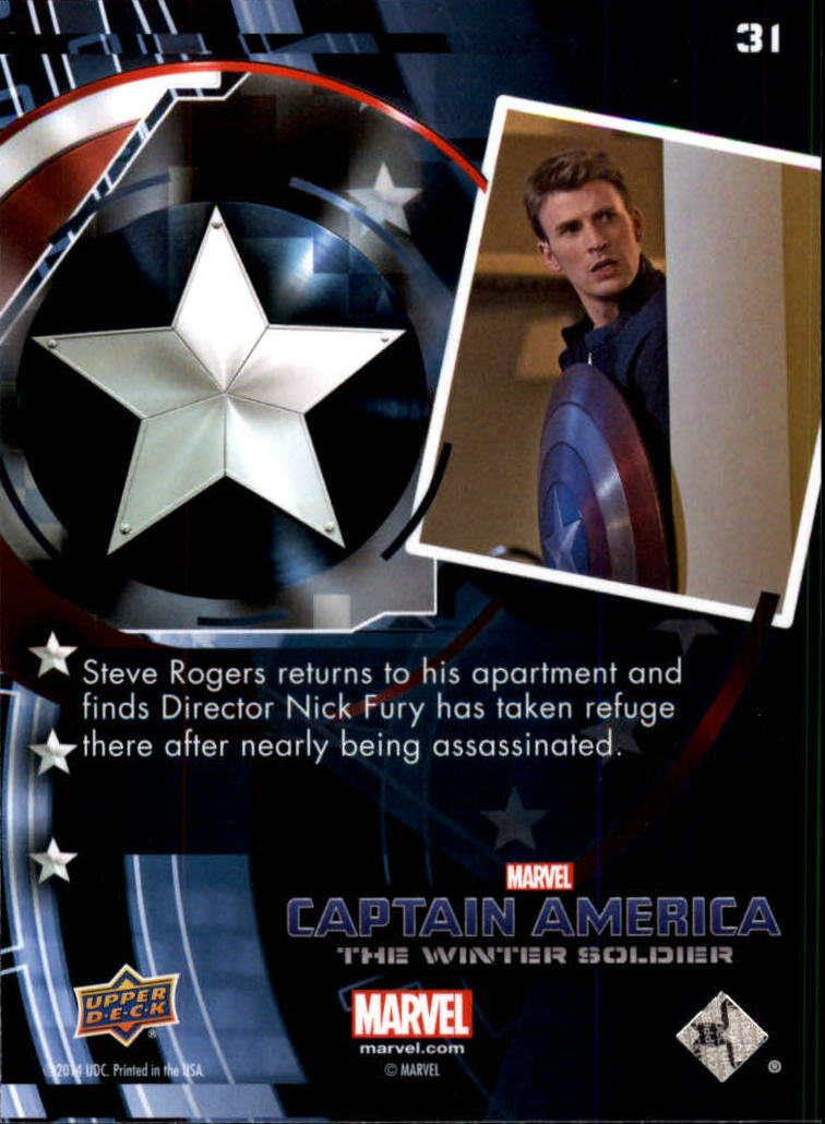 2014 Captain America The Winter Soldier Silver Foil #31 Steve Rogers returns to his apartment and finds Di back image