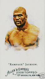 2008 Topps Allen and Ginter Mini Bazooka #189 Rampage Jackson