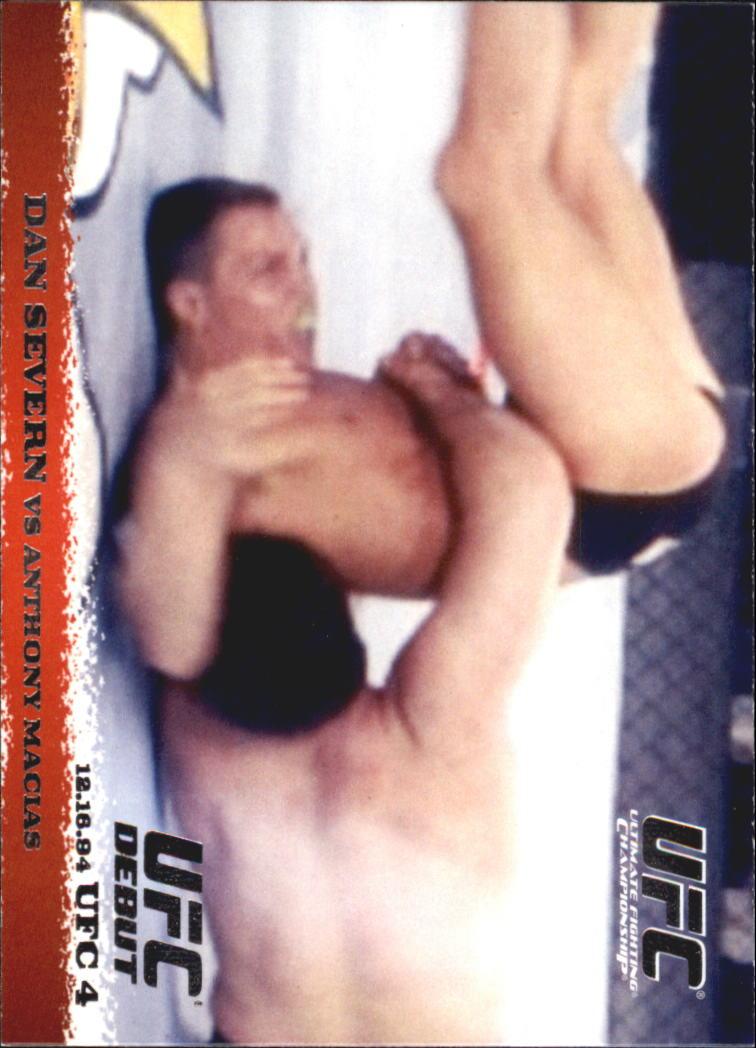 2009 Topps UFC Round 1 #2 Dan Severn/Anthony Macias
