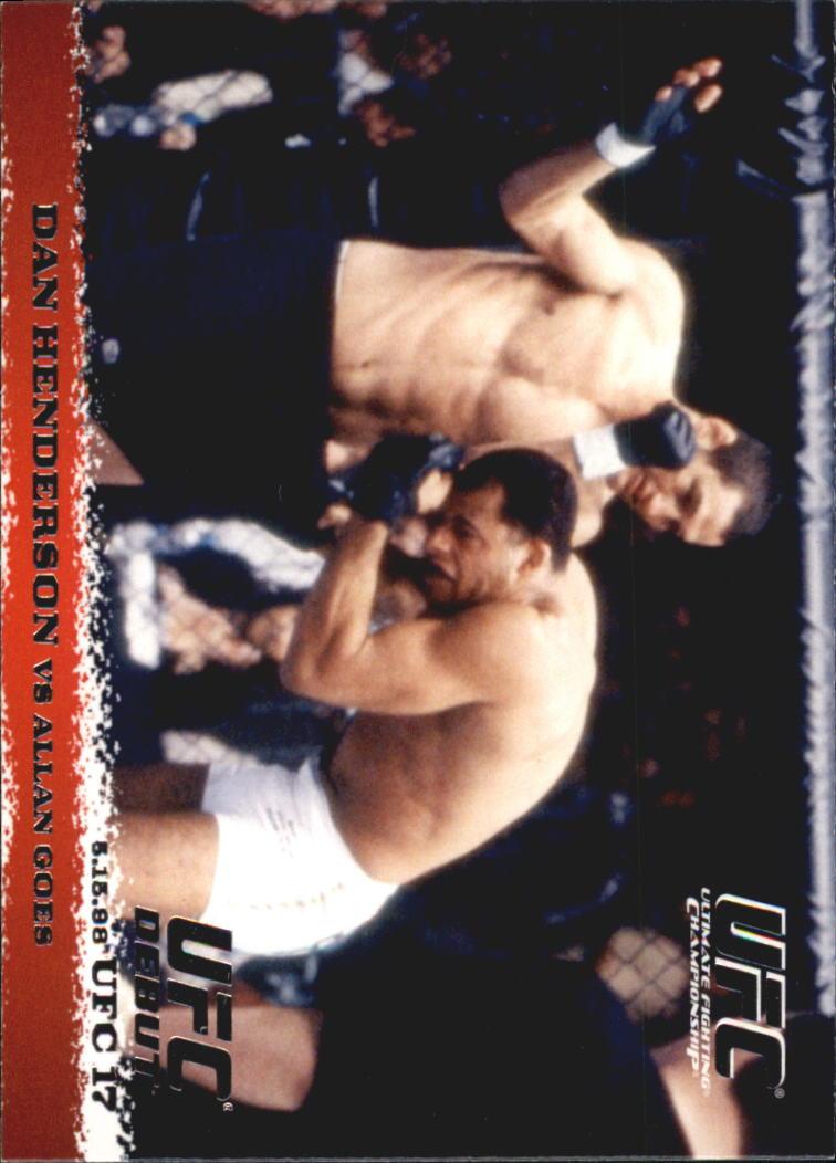 2009 Topps UFC Round 1 #6 Dan Henderson/Allan Goes