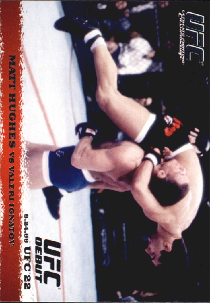 2009 Topps UFC Round 1 #8 Matt Hughes/Valeri Ignatov
