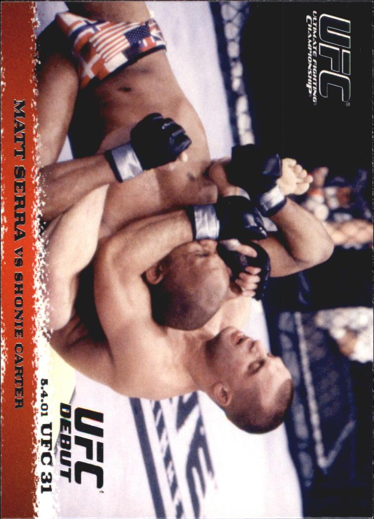 2009 Topps UFC Round 1 #11 Matt Serra/Shonie Carter
