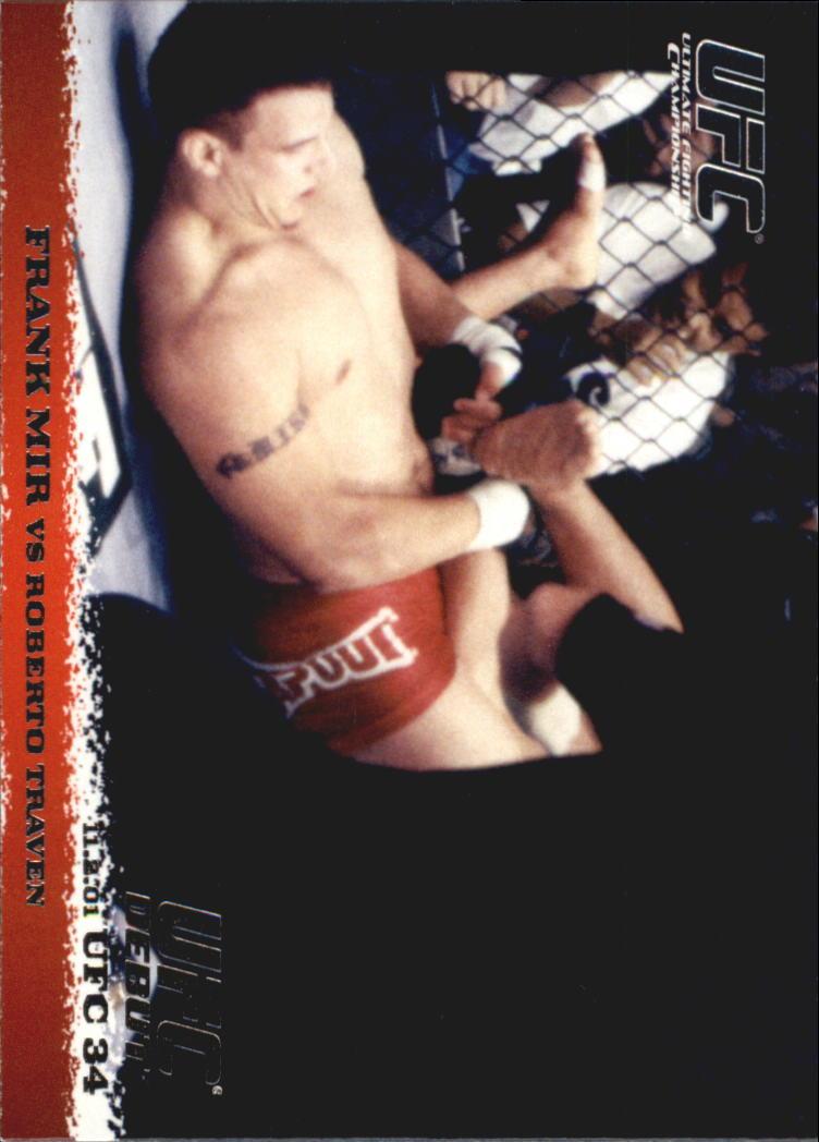 2009 Topps UFC Round 1 #12 Frank Mir/Roberto Traven