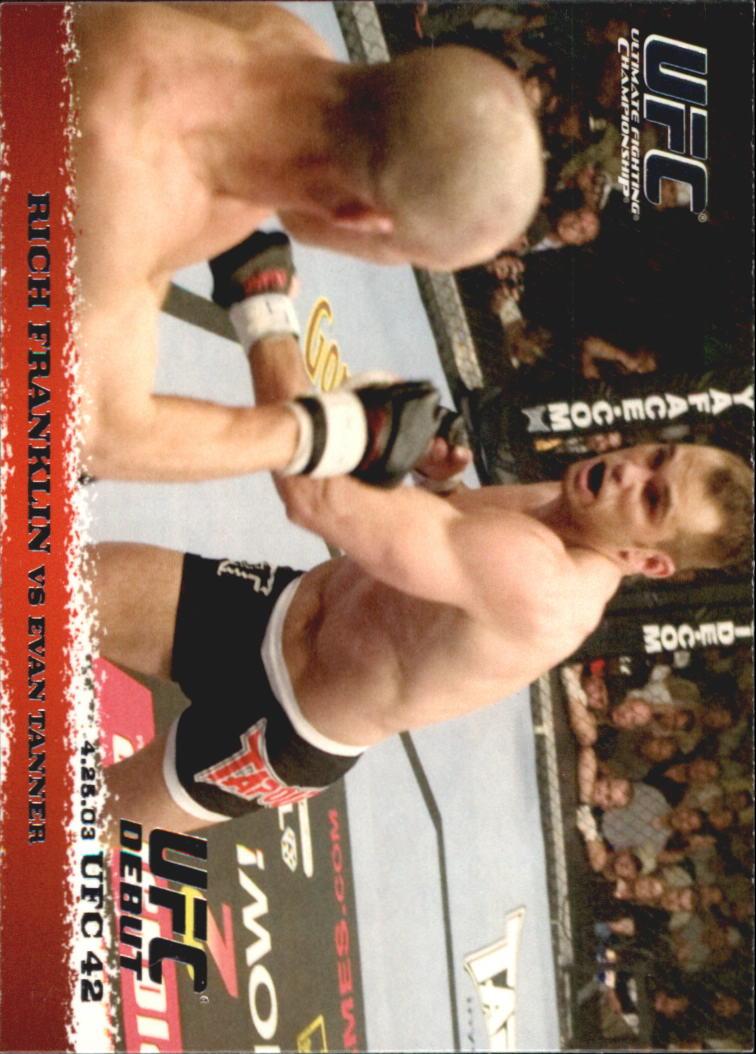 2009 Topps UFC Round 1 #14 Rich Franklin/Evan Tanner
