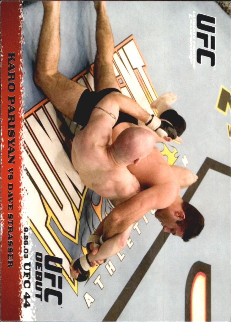 2009 Topps UFC Round 1 #16 Karo Parisyan/Dave Strasser