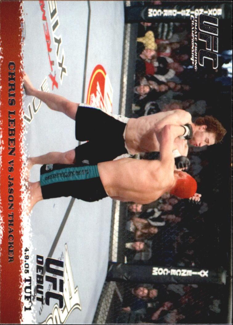 2009 Topps UFC Round 1 #20 Chris Leben/Jason Thacker