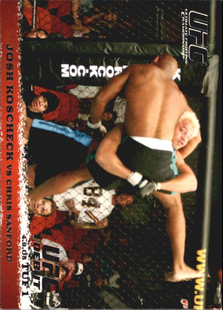 2009 Topps UFC Round 1 #23 Josh Koscheck/Chris Sanford