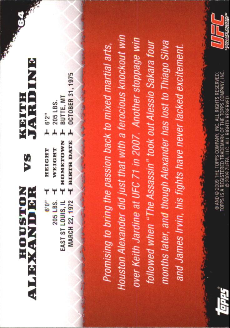 2009 topps ufc round 1 64 houston alexander keith jardine for Jardin 64